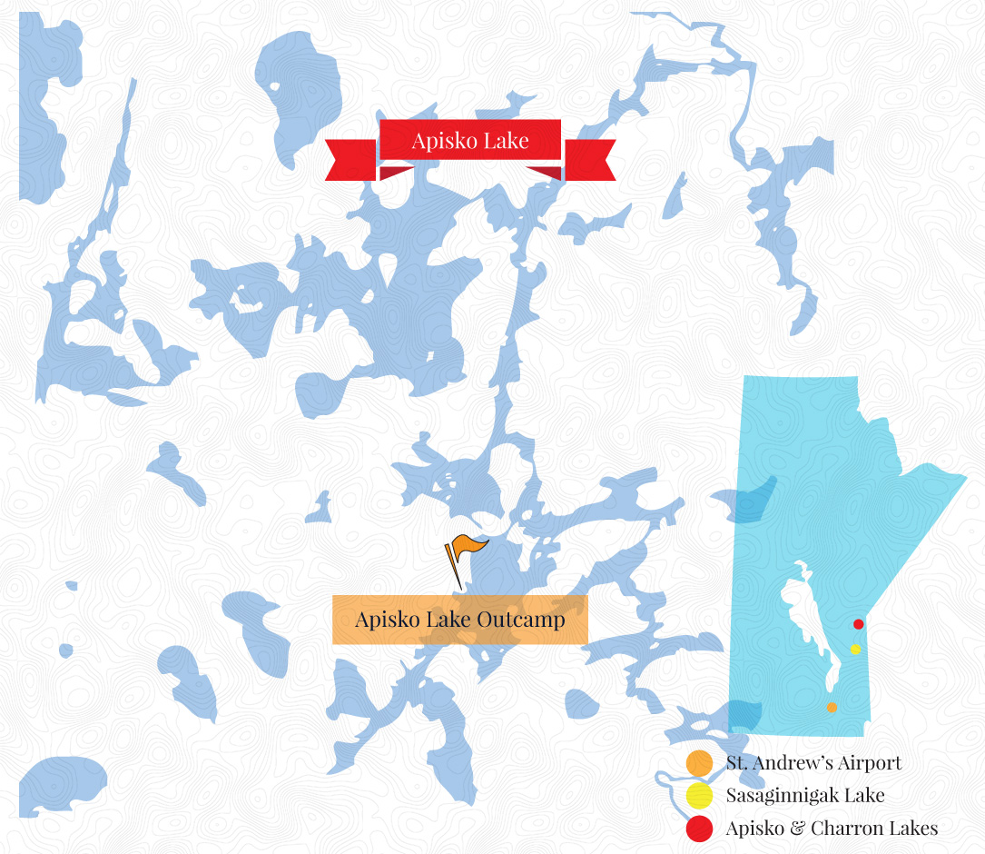 Apisko Lake Outcamp Map