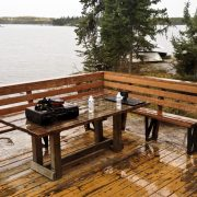 Apisko Lake cabin deck