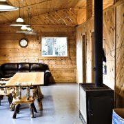 Apisko Lake cabin livingroom
